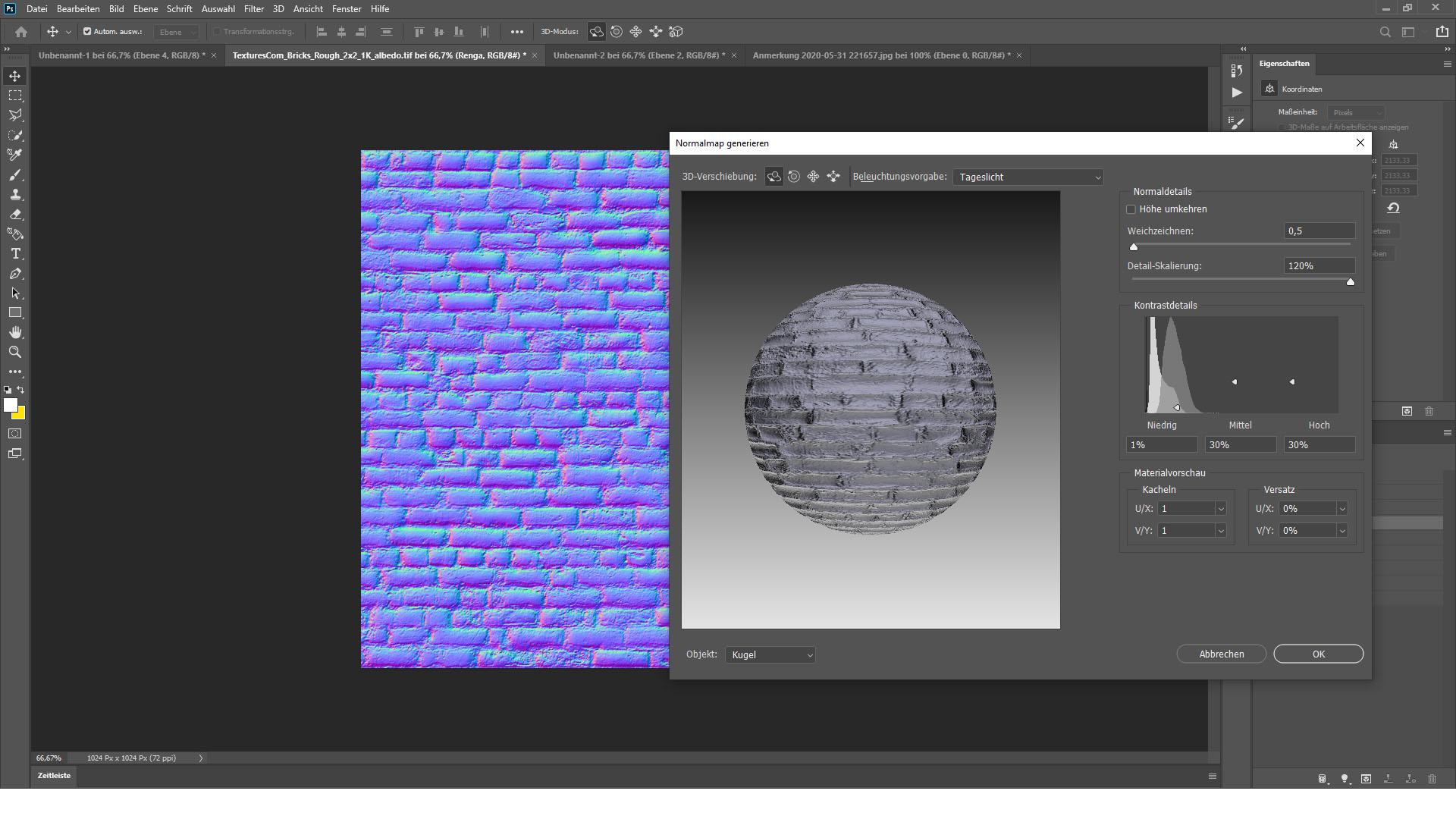 Photoshopでノーマルマップを作る方法